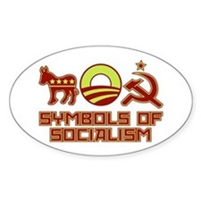 Symbols of Socialism Oval Decal