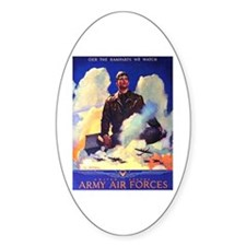Ramparts We Watch Air Force Oval Decal
