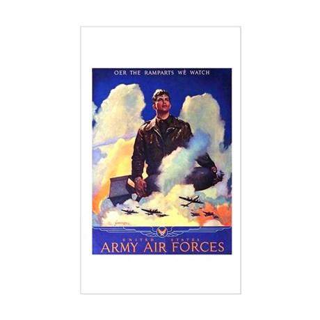 Ramparts We Watch Air Force Rectangle Sticker