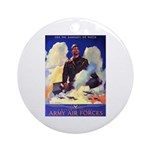 Ramparts We Watch Air Force Ornament (Round)