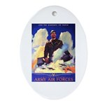 Ramparts We Watch Air Force Oval Ornament