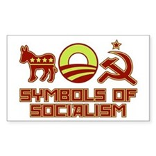 Symbols of Socialism Rectangle Decal