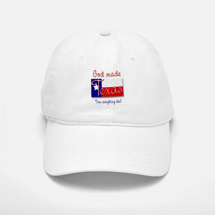 God Made Texas Baseball Baseball Cap