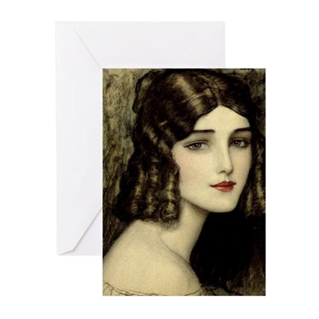 Beautiful Brunette Greeting Cards (Pk of 10)