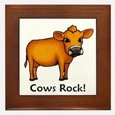 Cows Rock! Framed Tile