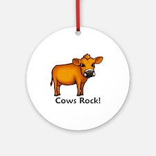 Cows Rock! Ornament (Round)