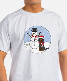 Gordon Setter Winter T-Shirt
