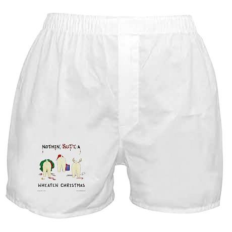 Nothin Butt A Wheaten Xmas Boxer Shorts