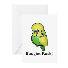 Budgies Rock! Greeting Cards (Pk of 20)