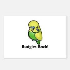 Budgies Rock! Postcards (Package of 8)