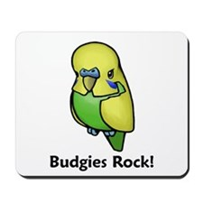 Budgies Rock! Mousepad