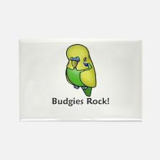 Budgies Rock! Rectangle Magnet