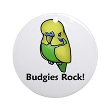 Budgies Rock! Ornament (Round)