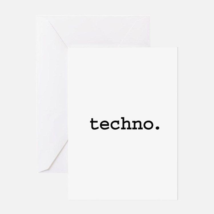 techno. Greeting Card