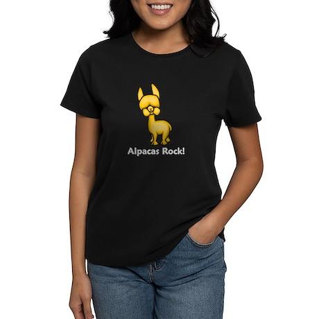 Alpacas Rock! Women's Dark T-Shirt