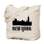 New York City Skyline Reusable Canvas Tote Bag