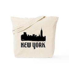 New York City Skyline Reusable Canvas Tote Bag