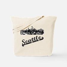 Vintage Seattle Washington Reusable Tote Bag
