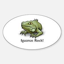 Iguanas Rock! Oval Decal