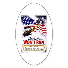 Colors Won't Run Patriot Oval Sticker (10 pk)