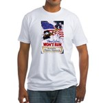 Colors Won't Run Patriot (Front) Fitted T-Shirt