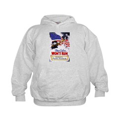 Colors Won't Run Patriot (Front) Kids Hoodie