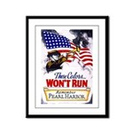 Colors Won't Run Patriot Framed Panel Print