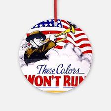 Colors Won't Run Patriot Ornament (Round)
