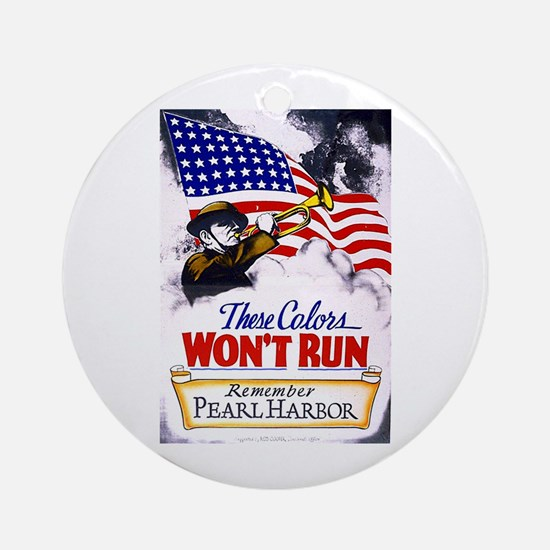 Colors Won't Run Patriot Ornament (Round)