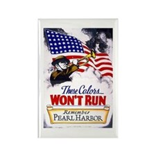 Colors Won't Run Patriot Rectangle Magnet