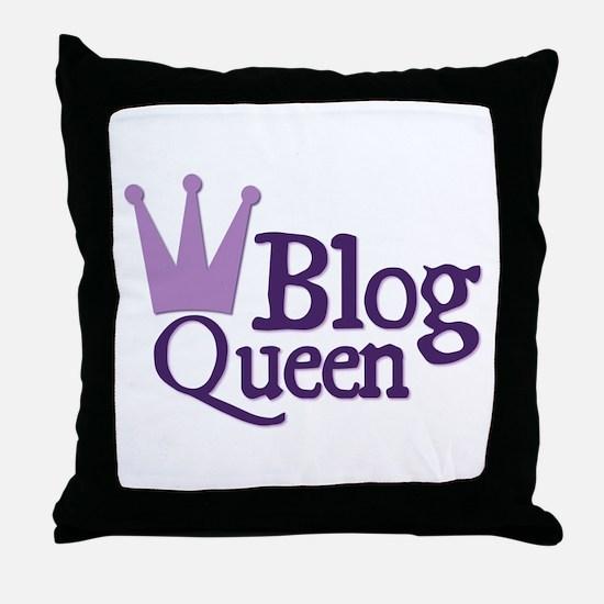 Crown Blog Queen Throw Pillow