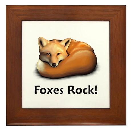 Foxes Rock! Framed Tile