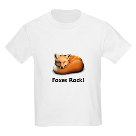 Foxes Rock! Kids Light T-Shirt