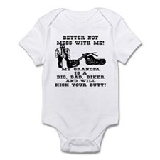 GrandPa Is A Big Bad Biker Infant Bodysuit