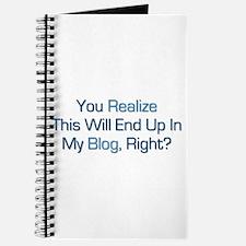 Humorous Blog Saying Journal