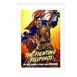 Fighting Filipinos Military Soldier Postcards (Pac