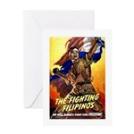Fighting Filipinos Military Soldier Greeting Card