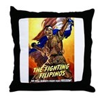 Fighting Filipinos Military Soldier Throw Pillow
