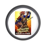 Fighting Filipinos Military Soldier Wall Clock