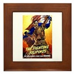 Fighting Filipinos Military Soldier Framed Tile