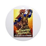 Fighting Filipinos Military Soldier Ornament (Roun