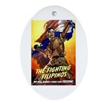 Fighting Filipinos Military Soldier Ornament (Oval