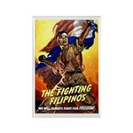 Fighting Filipinos Military Soldier Rectangle Magn