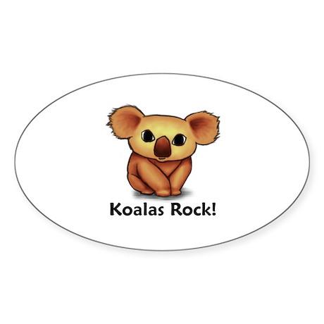 Koalas Rock! Oval Sticker