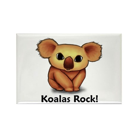 Koalas Rock! Rectangle Magnet