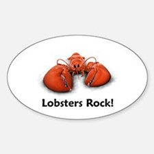 Lobsters Rock! Oval Decal