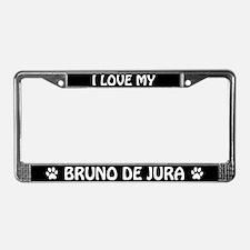 I Love My Bruno De Jura License Plate Frame