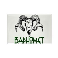 BAPHOMET SKULL Rectangle Magnet