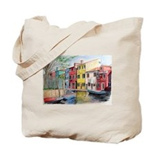 Burano and Collage Tote Bag