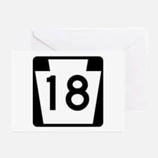 Route 18, Pennsylvania Greeting Cards (Pk of 10)